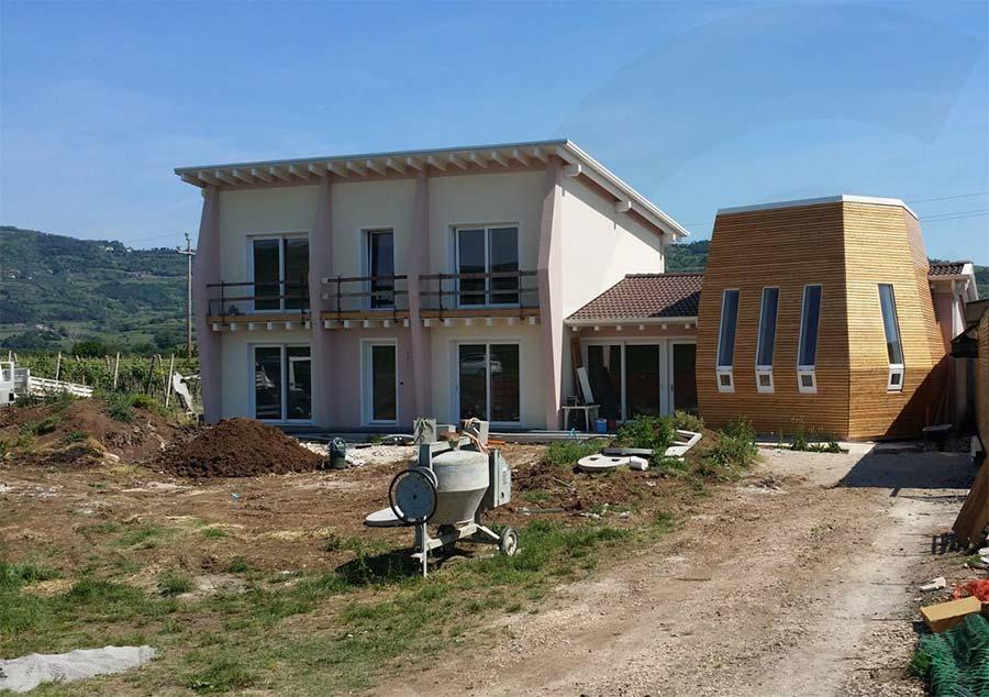 cantiere casa di legno