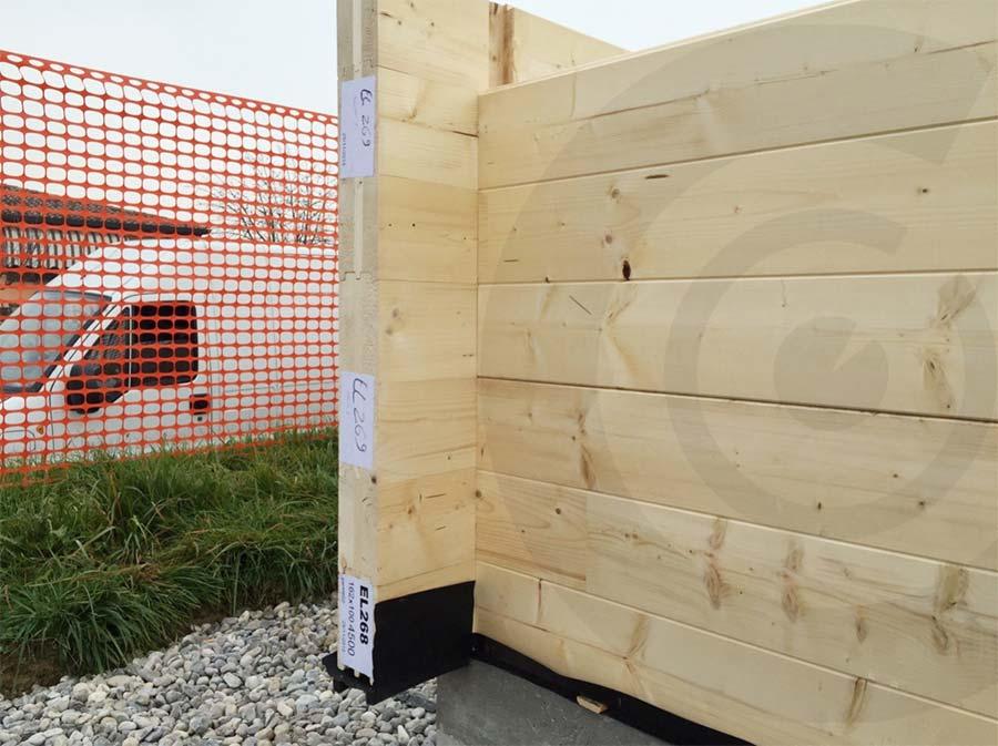 pareti cantiere casa di legno