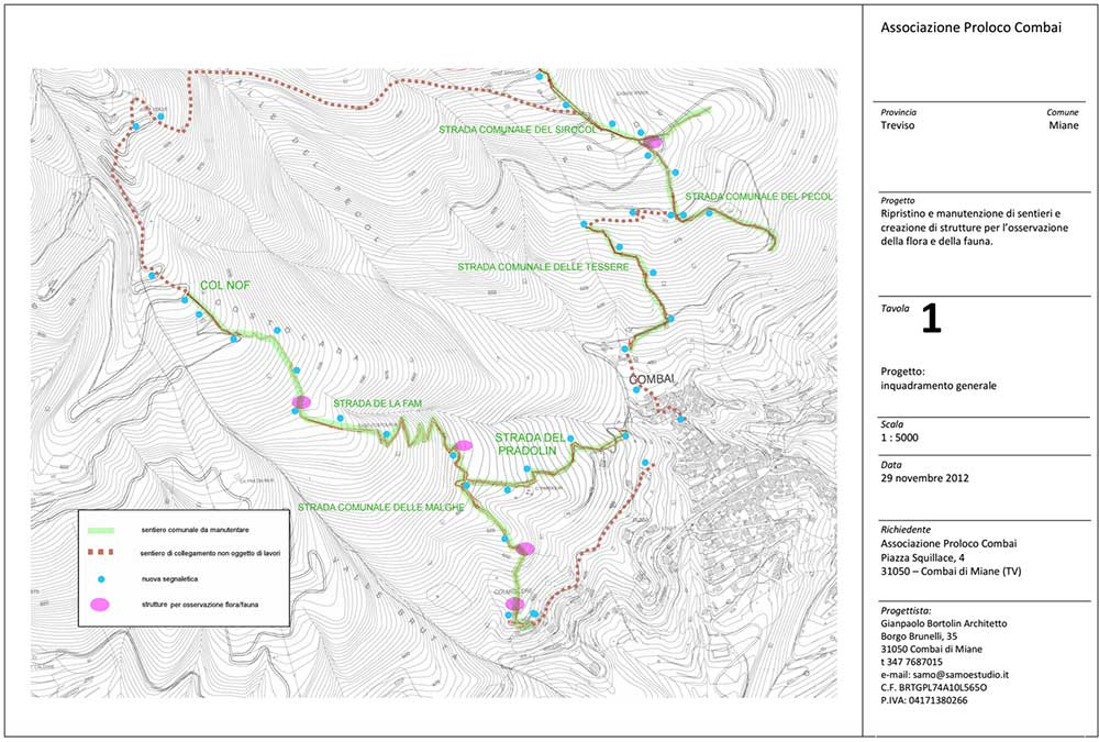 cartina pianta bosco castagno