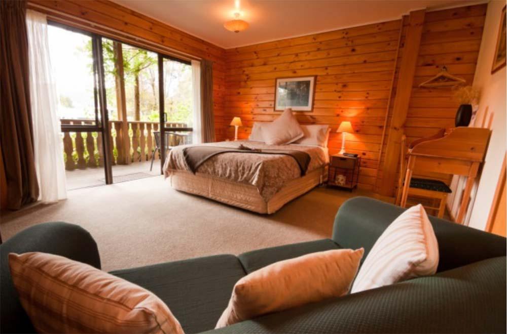 interno di casa di legno