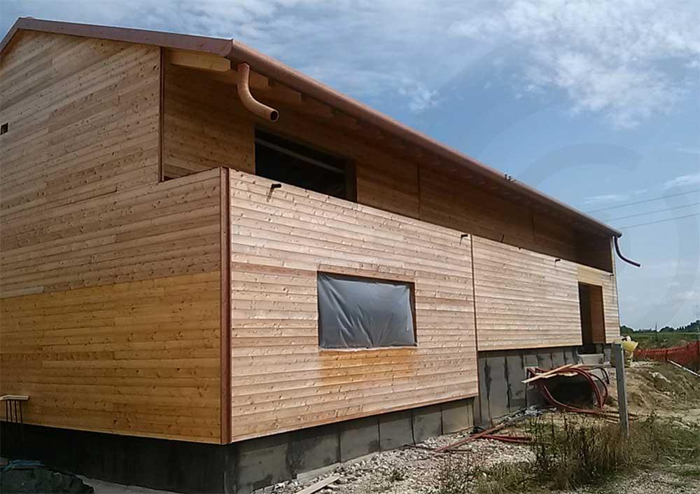 casa in legno cantiere