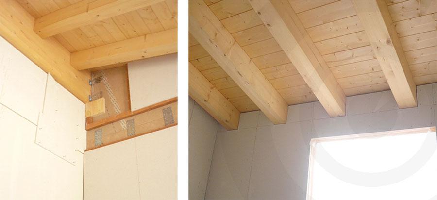 interno casa di legno xlam e telaio