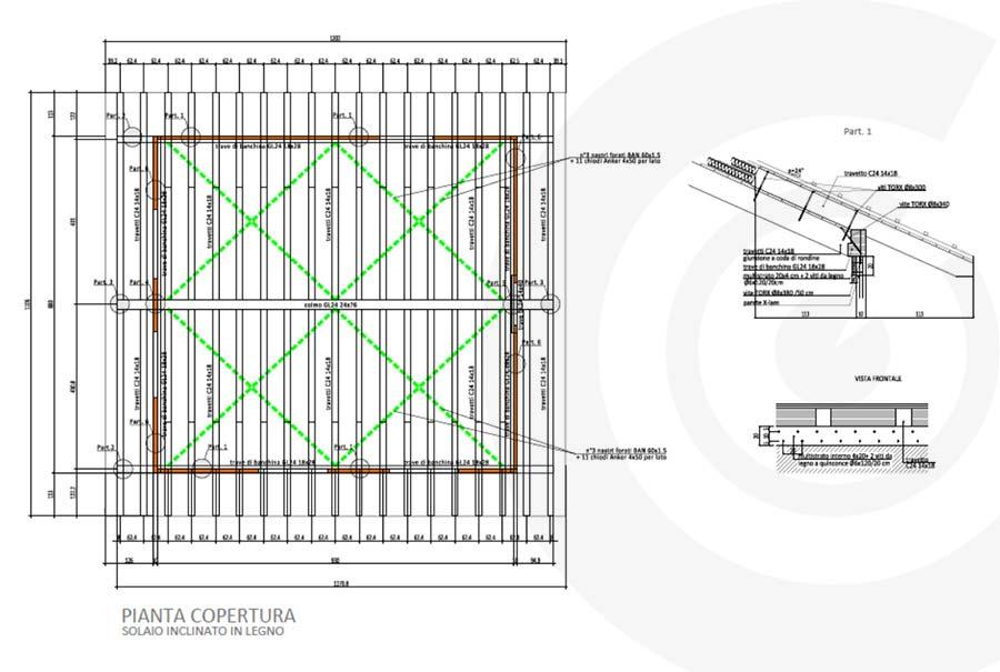 pianta copertura casa x lam 687
