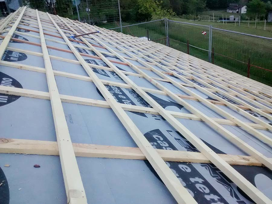 tetto casa di legno x lam