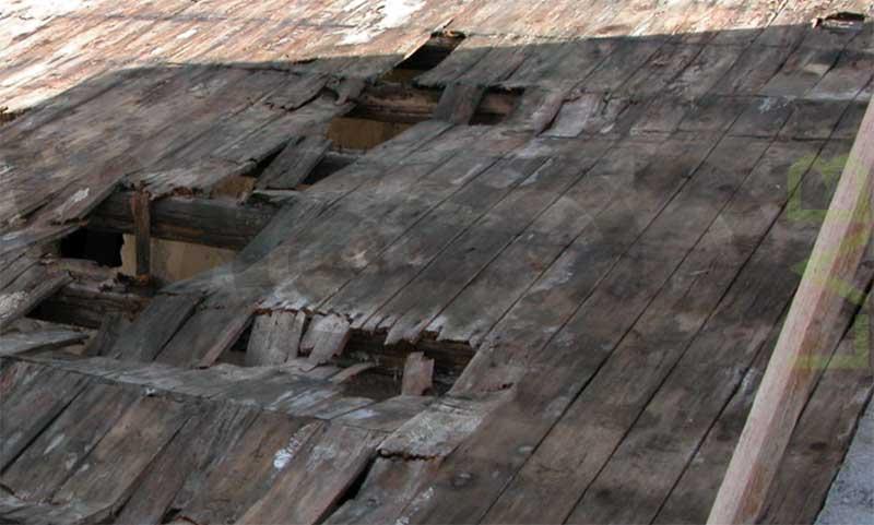 crollo del tetto