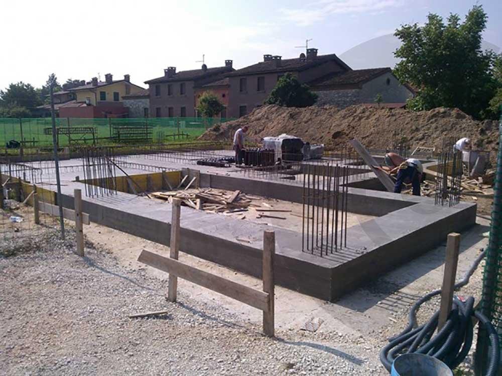 fondamenta casa di legno