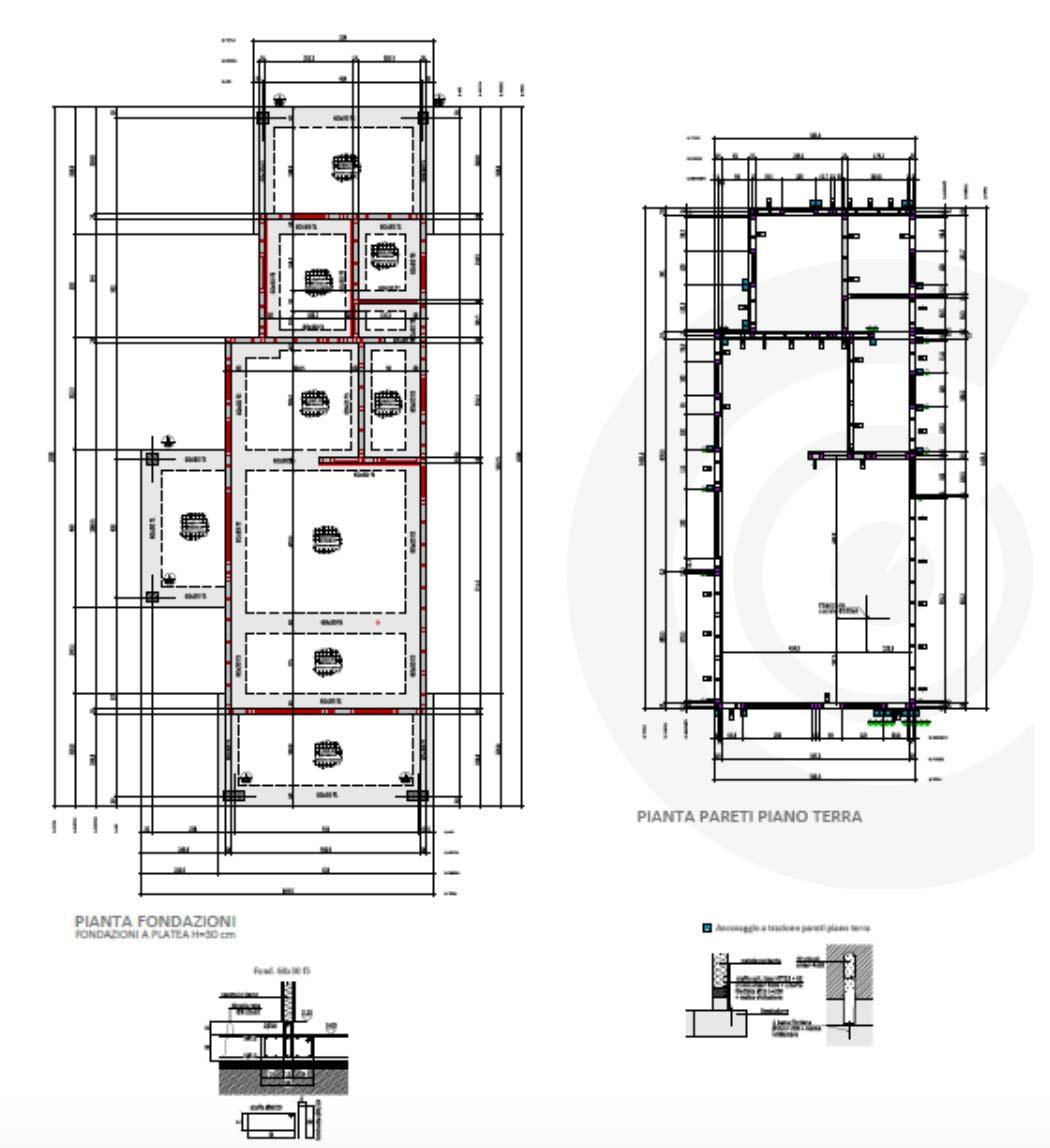 pianta fondazioni casa di legno 614