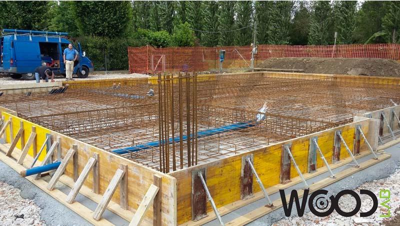 fondazione a platea casa in legno