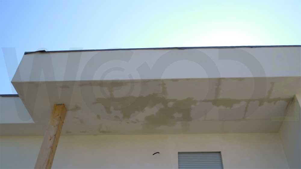 Infiltrazione d'acqua sul tetto