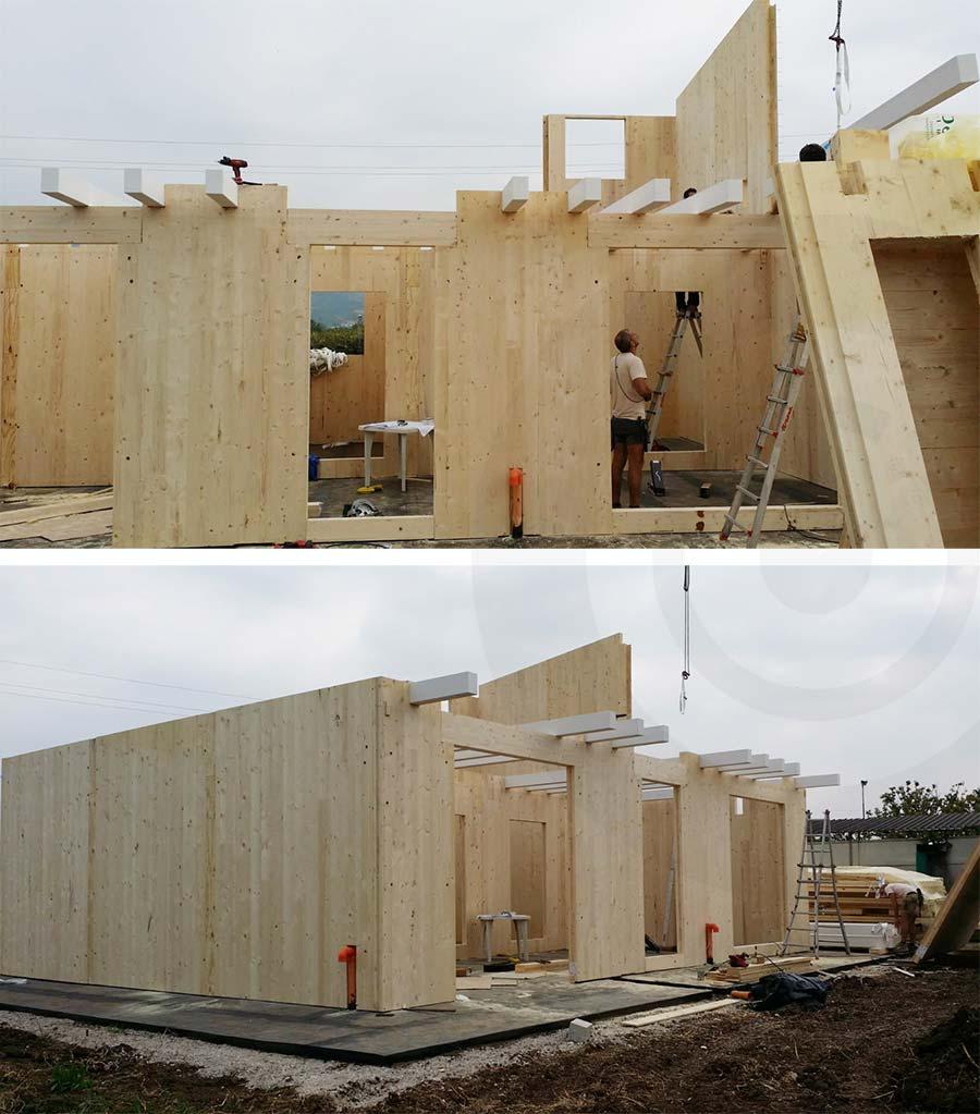 lavori in corso casa in legno x lam