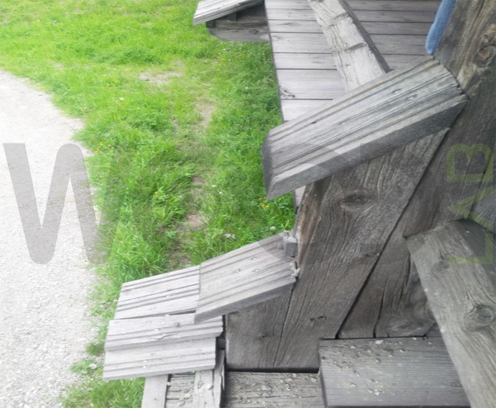 tavole di legno di copertura
