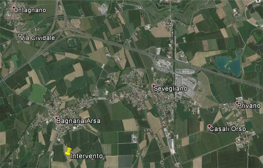 mappa geografica cantiere