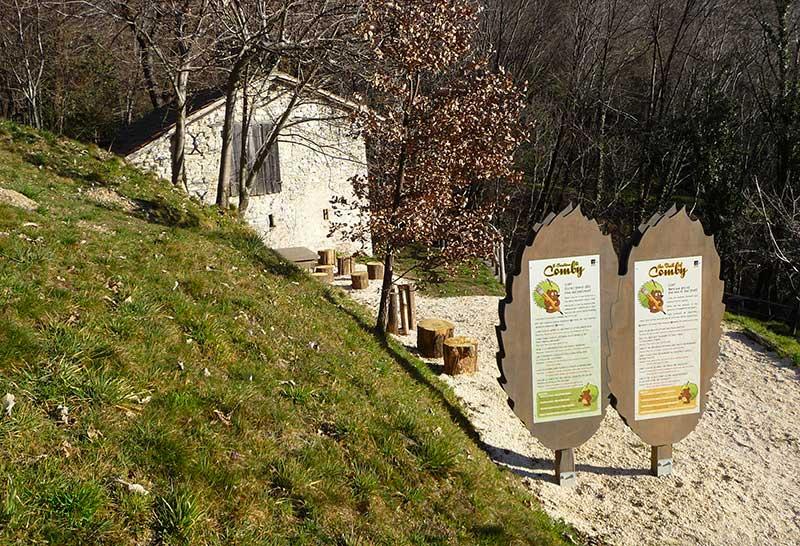 pannelli didattici sentiero parco del castagno