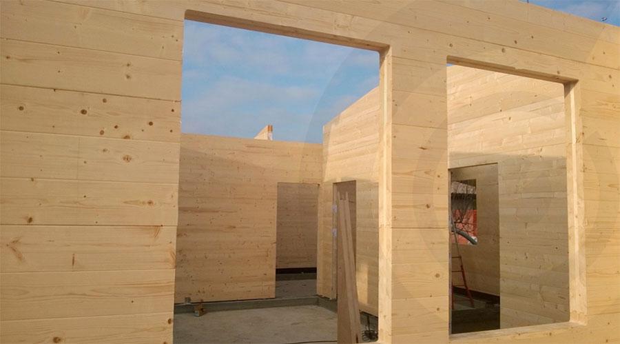 pareti casa di legno