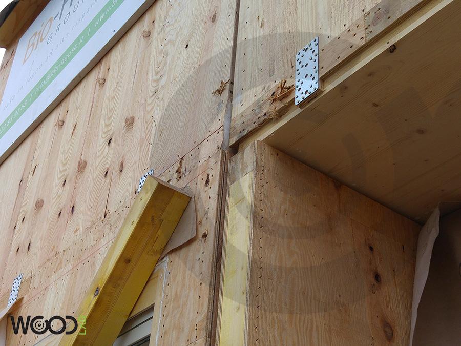 particolare casa di legno