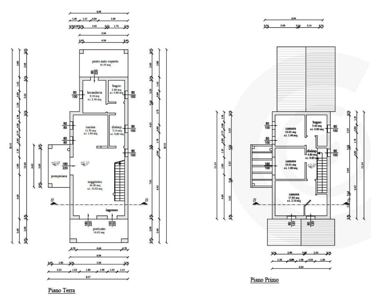 piano terra casa in legno a telaio