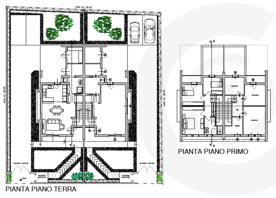 piano terra e piano primo casa xlam e telaio
