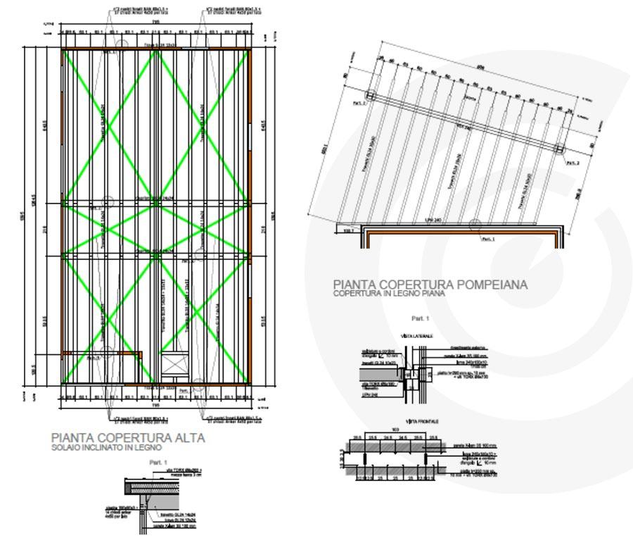 pianta copertura casa in x lam