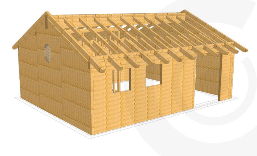 progetto rendering casa x lam