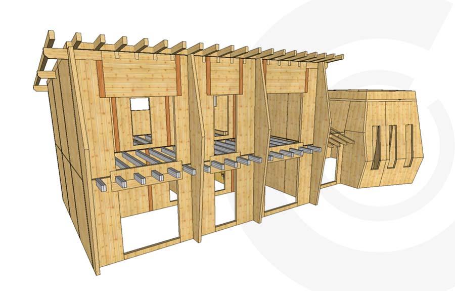 rendering casa di legno 635