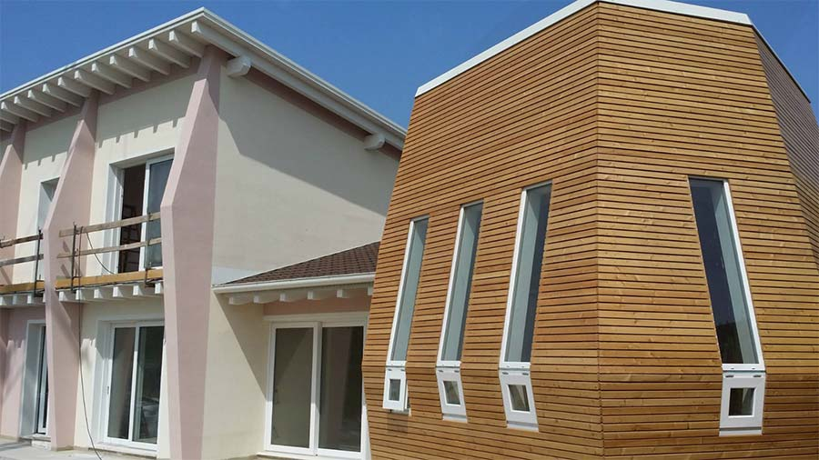 sala degustazione casa di legno x lam