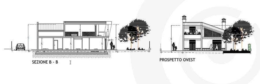 prospetto laterale progetto