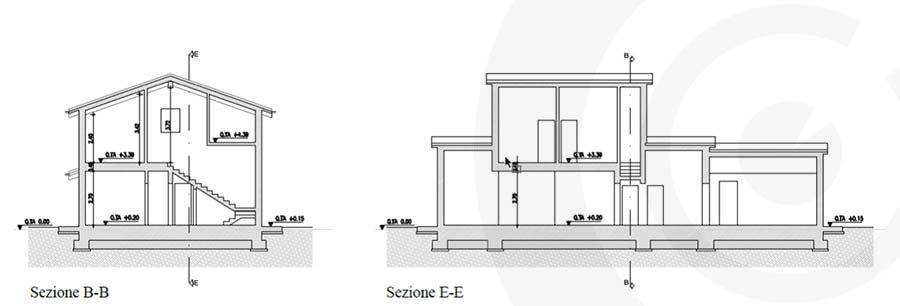 sezioni progetto casa 665