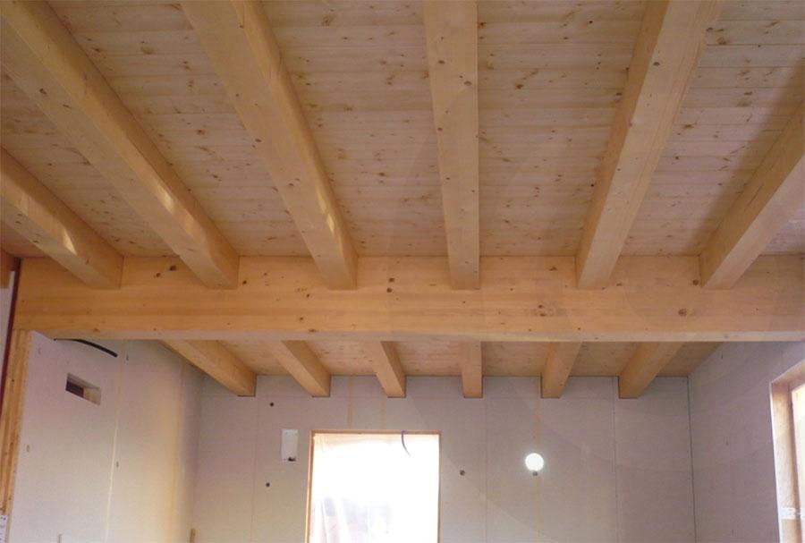 solaio casa di legno xlam e telaio