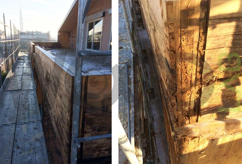 terrazza piana casa di legno
