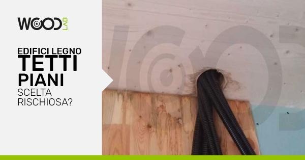 tetti piani case in legno