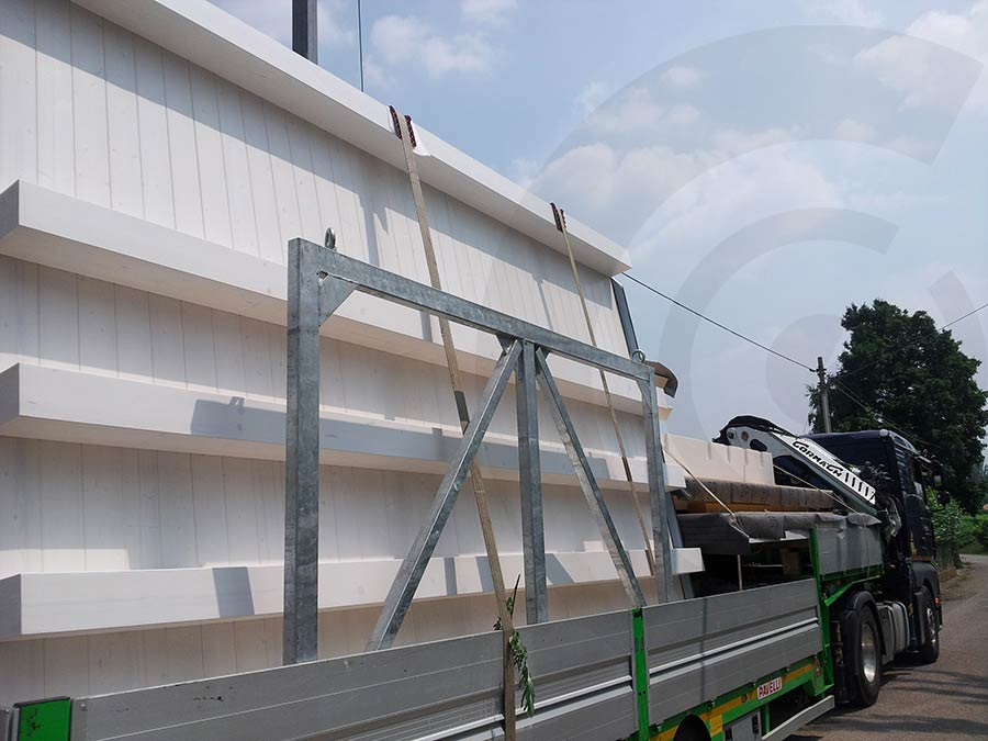 trasporto pareti case prefabbricate