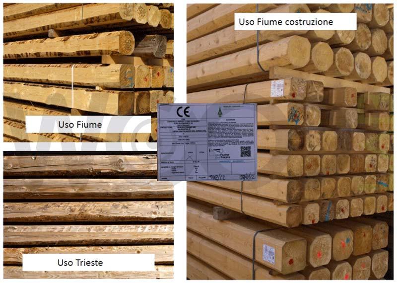 uso fiume uso trieste travi in legno
