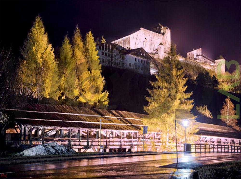 vista notturna ponte di legno