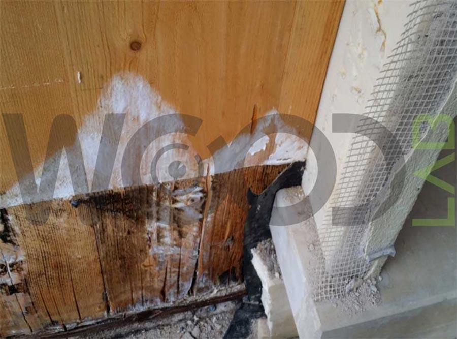 dettaglio marcescenza pareti legno