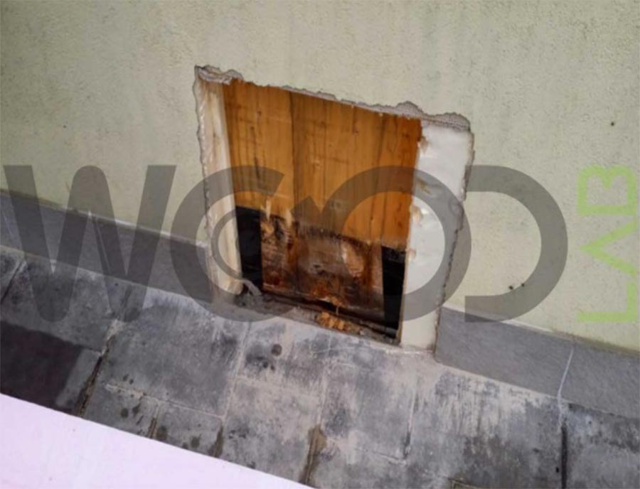 fessura muro su pareti marce legno
