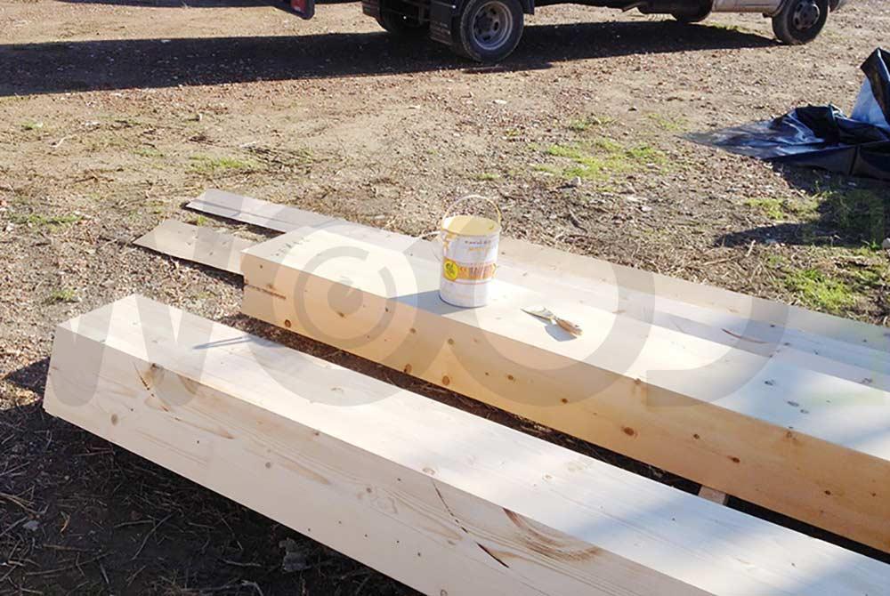 colla sopra trave in legno