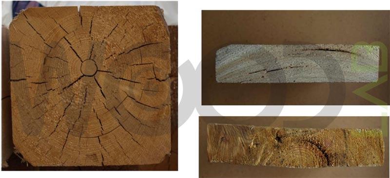 cipollatura di una trave in legno