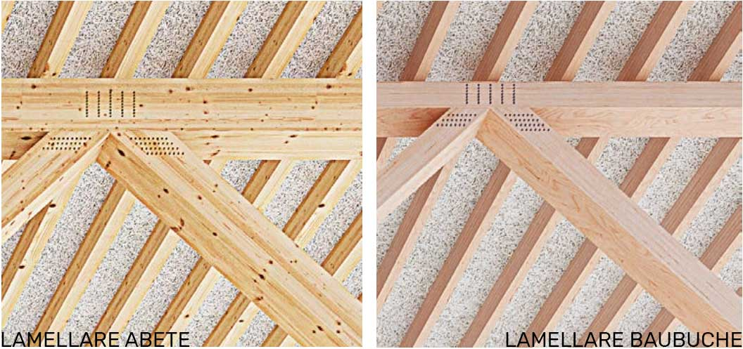 confronto legno lamellare