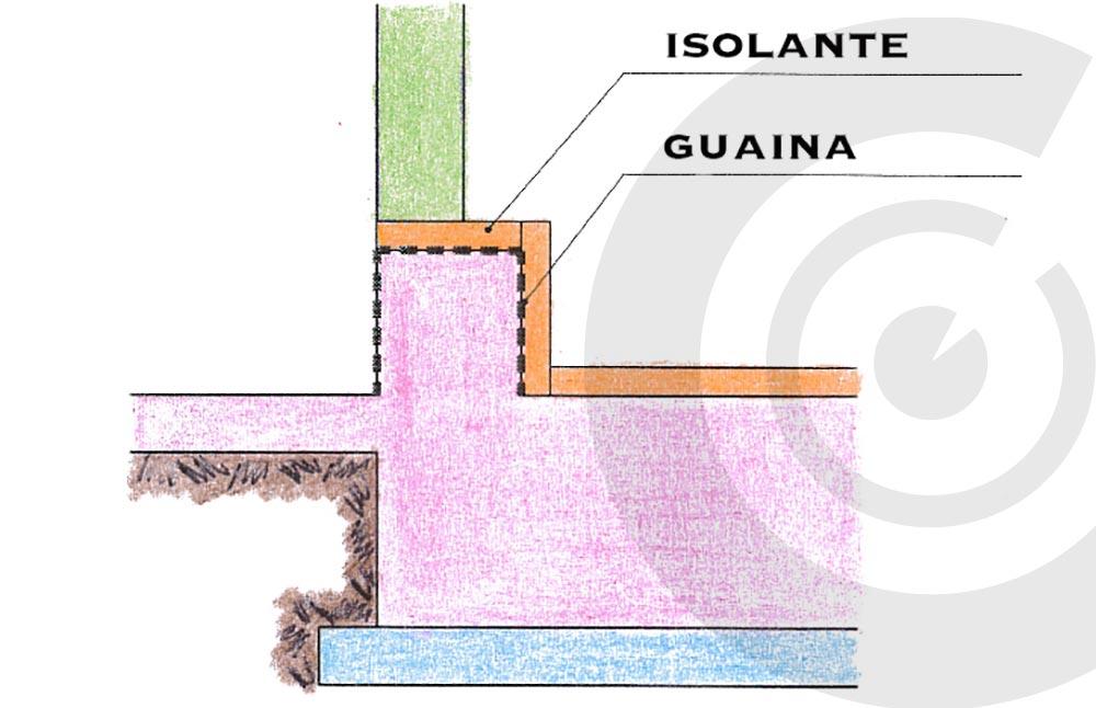 fondazione casa con isolante e guaina