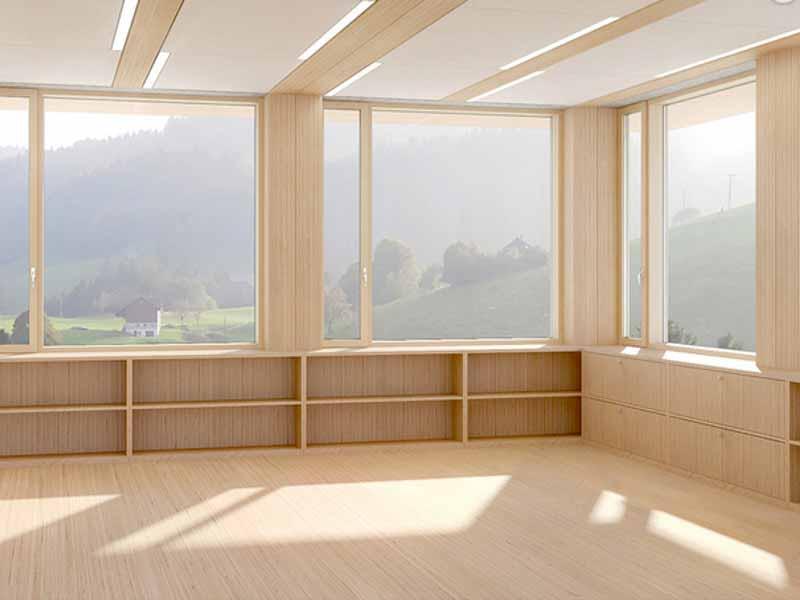 interni in legno lamellare baubuche