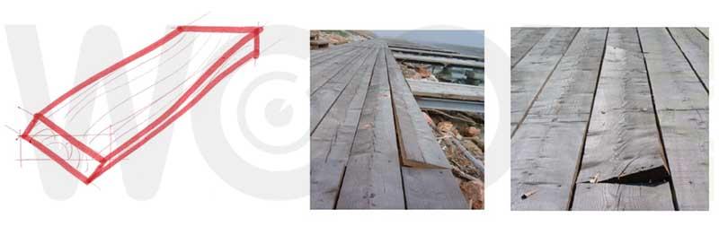 svergolamento tavola di legno