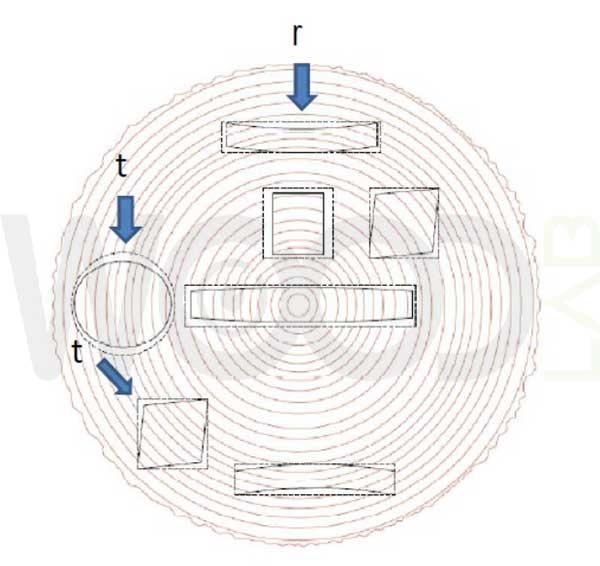 disegno lavorazione del tronco