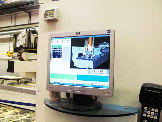 Monitor di una macchina a controllo numerico