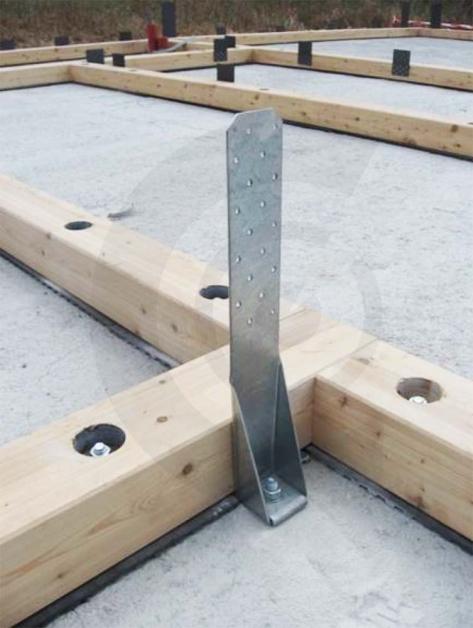 attacco a terra case in legno