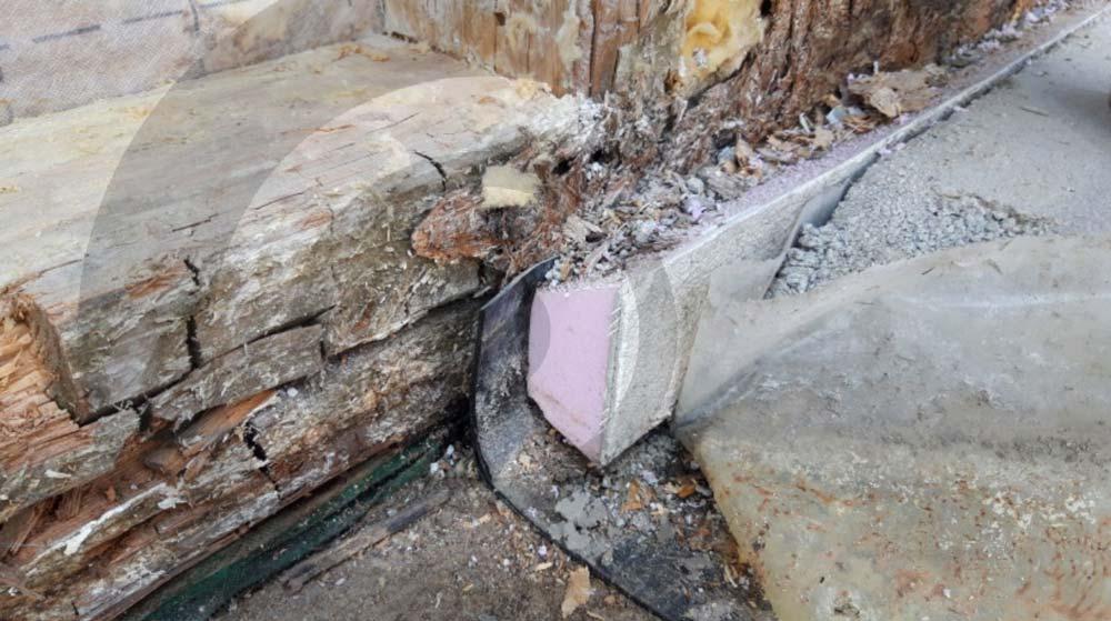 cordolo in larice casa di legno