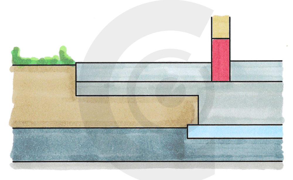 disegno distanziatore base casa legno