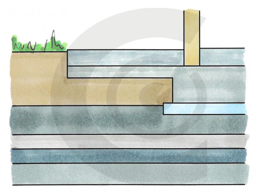 disegno di errata progettazione casa legno