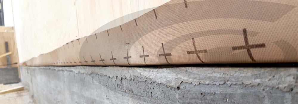 dettaglio posa parete in legno